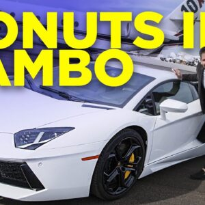 Grant Cardone doing donuts in LAMBO!!