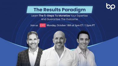The Results Paradigm  LIVE Webinar at 3pm EST